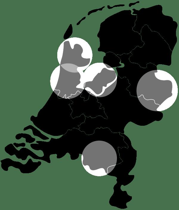 Overzicht Vlotte Tantes partners Nederland